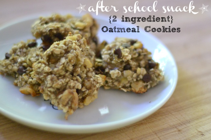 {2 Ingredient} Oatmeal Cookie