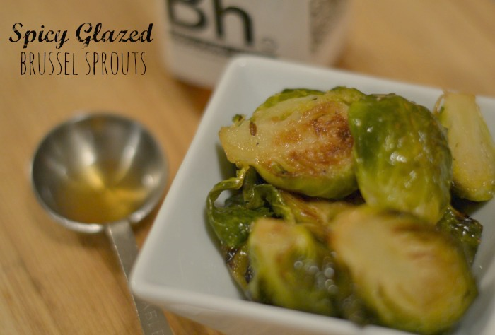 spicy glazed brussel sprouts