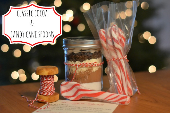 classic cocoa and candy cane spoons