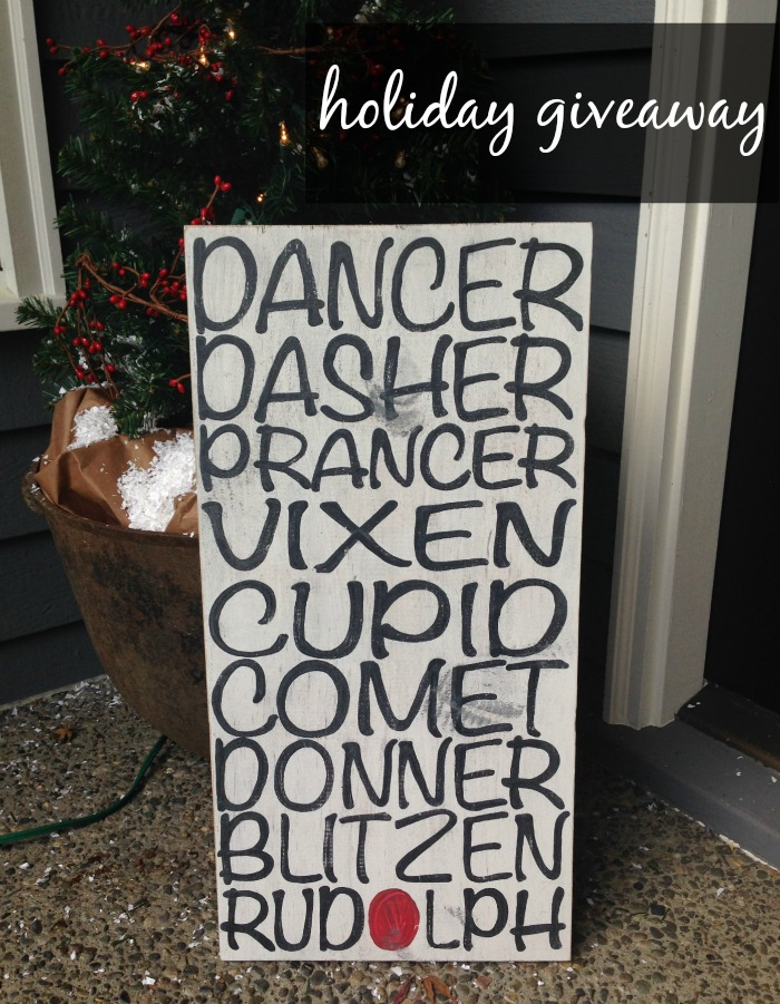 holiday sign giveaway
