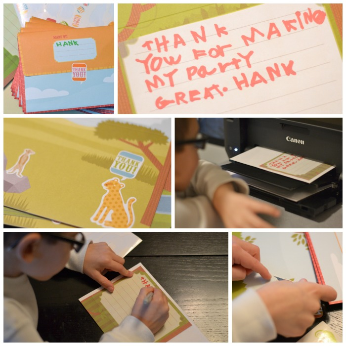 thank you notes with kids