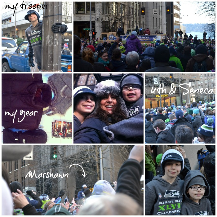 victory parade collage
