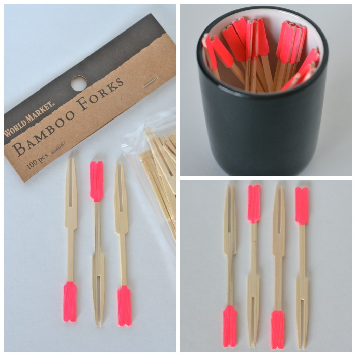 bamboo forks with a pop