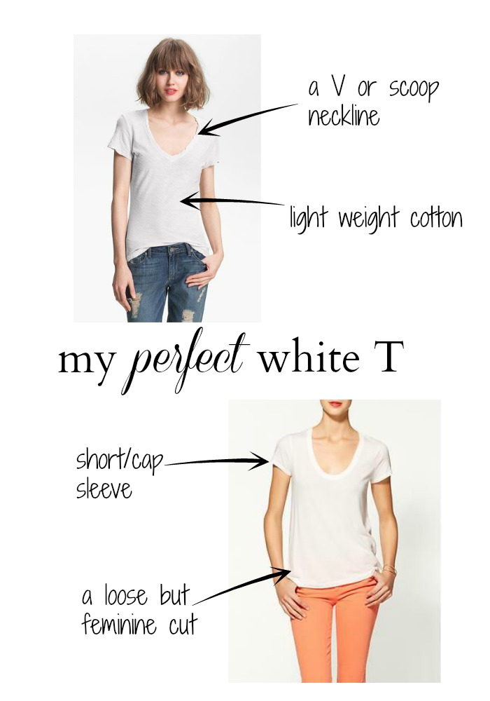 my perfect white T