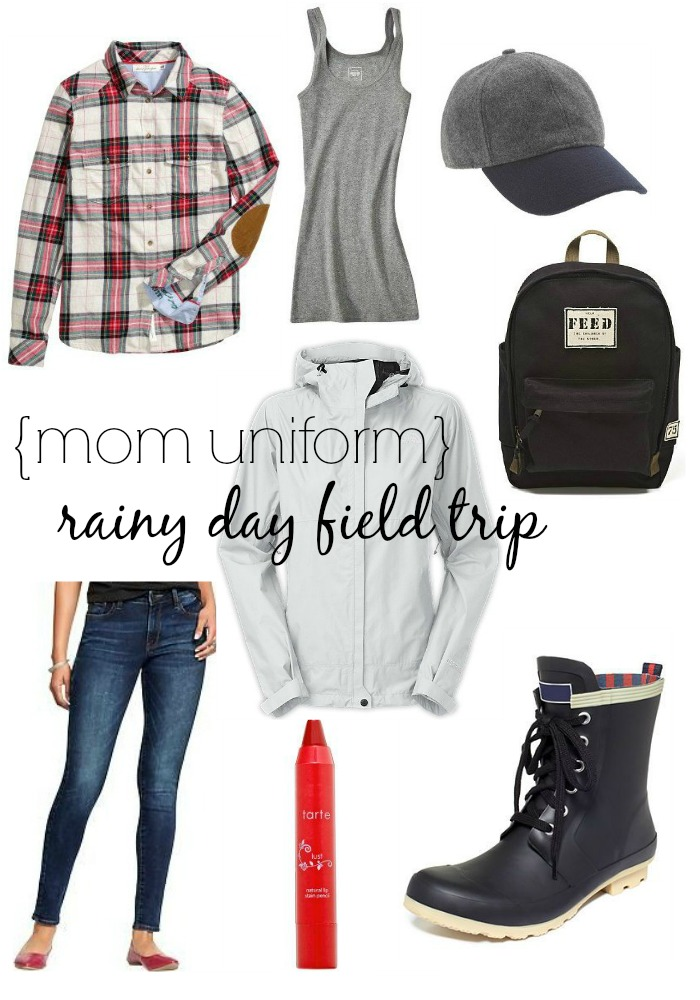 mom uniform rainy day field trip