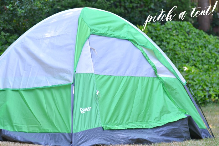pitch a tent | Where is June?