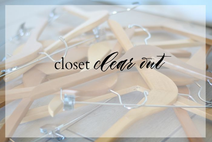 closet clear out | Where is June?