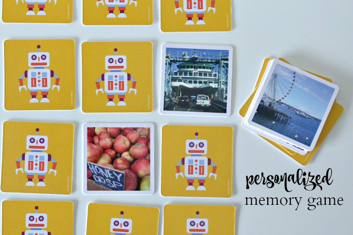 Pinhole Press Personalized Memory Game Details | Where is June?